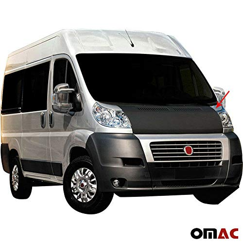 - OMAC USA Ram Promaster Fiat Ducato Front Hood Cover Mask Black Vinyl Bonnet Bra Stoneguard Protector