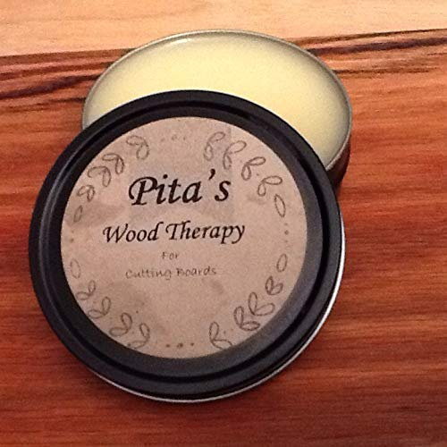 Pita's Wood Therapy All Natural Wood Seasoning Wax Tin by Starkweather  Woods - 4 Ounce Oil and Beeswax Food Safe Sealer for Cutting Board, Bowl  and