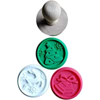 Cookie Cutters, Christmas 1Set Silicone DIY Cookie Stamp Fondant Mold Biscuit Embossing Cutters Sugar Craft Tool