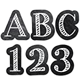 Creative Teaching Press Chalkboard 1'' UC Letters Stickers, Black/White (2102)