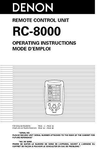 denon rc 8000 - 1