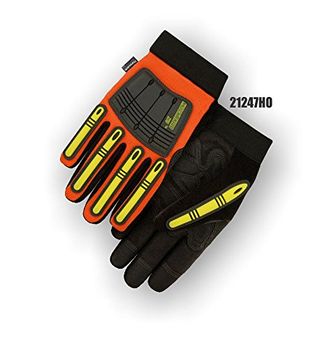 (12 Pair) Majestic THINSULATE LINED ARMORSKIN GLOVES WITH KNUCKLE & FINGER GUARDS - 3X LARGE(21247HO/13)
