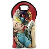 Wine Tote Carrier Bag Dance Woman Love Man Purse For Champagne,Water Bottles
