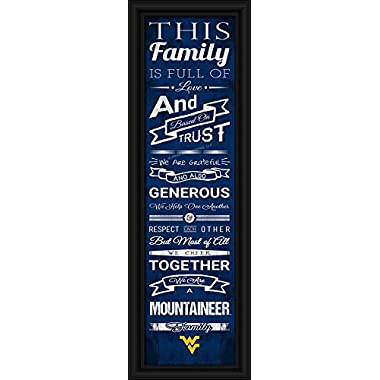 West Virginia Mountaineers - Family Cheer - Framed Poster Print