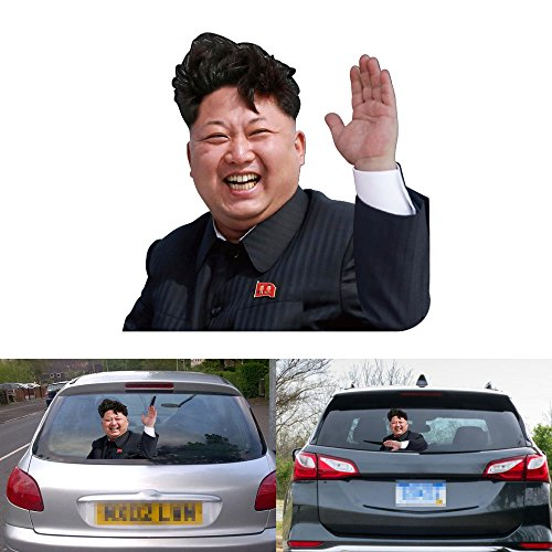 1797 Kim Jong un Car Stickers Decals Rear Waving Funny Wiper Decorations 3D Intereting Cover Waterproof Viny -