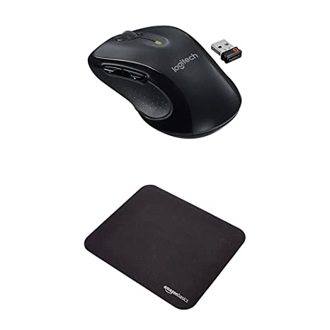 Logitech M510 Wireless Mouse and Mini Gaming Mouse Pad, Black