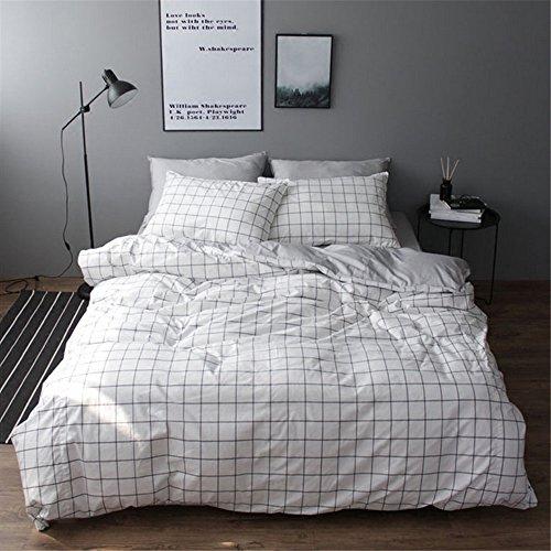 Vclife Queen Full Duvet Cover Set Cotton Bedding Set