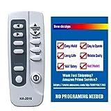 HA-2016 Replaces Frigidaire Air Conditioner Remote Control 5304476618 Works for FAH086T1T0 FAH106T1T0 FAH106T2T0 FAH126T2T0 FAH146T2T0 FFTA0833Q1 FFTA0833Q12 FFTA0833Q13 FFTA1033Q1 FFTA1033Q10