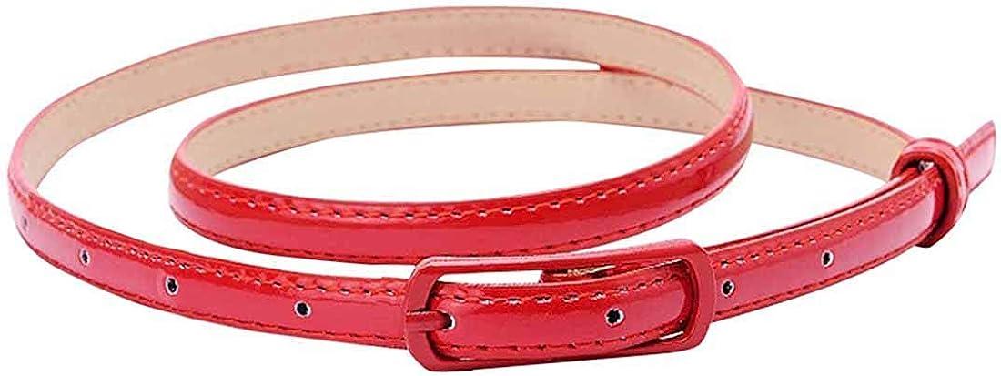 Selighting Cinturones para Mujeres Cuero de la PU Ajustable, Correa Cinturón Estrecho Verano Cintura de Color Sólido para Jeans Vestidos Fashion Skinny Minimalismo