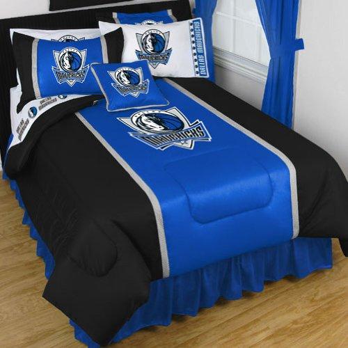 NBA Dallas Mavericks King Comforter Set Basketball Logo Bed by NBA