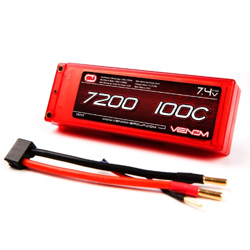 Venom 100C 2S 7200mAh 7.4V LiPo Battery Hard Case ROAR Appro