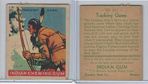 R73 Goudey, Indian Gum, Series 312, 1933, 211 Tracking Game