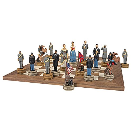 Design Toscano Civil War Sculptural Chess Pieces