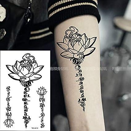 MRKAL Impermeable Tatuaje Temporal para Hombres Fuego Águila Loto ...