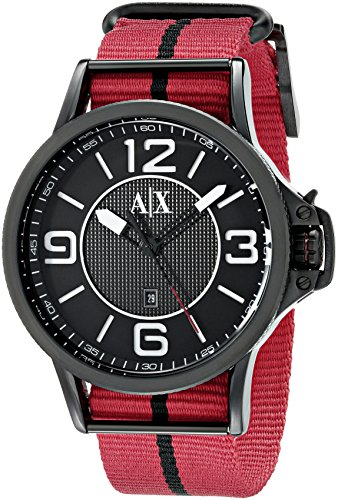 Armani Exchange Men's AX1582 Red Canvas  - Online Armani Exchange