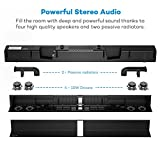 Soundbar, TaoTronics Sound Bar Wired and Wireless Bluetooth Audio ( 40 Watt Speaker,34-Inch, 2 Passive Radiators, Dual Connection Methods, Touch and Remote Control, Wall Mountable, Updated Version)