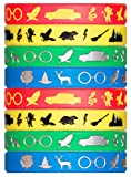 Wizard Houses Silicone Wristbands - 8 Pack Party Favor Set (2 of Each Color) Makes a Great Stocking Stuffer - Makes a Great Gift Under $10