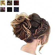 PrettyWit Bridal Braids Piece Wig Hair Bun Updo Hairpiece Tray Ponytail Extensions Donut Hair Chignons Hair Topknot Knot Hair Bun Easy Stretch(6004)