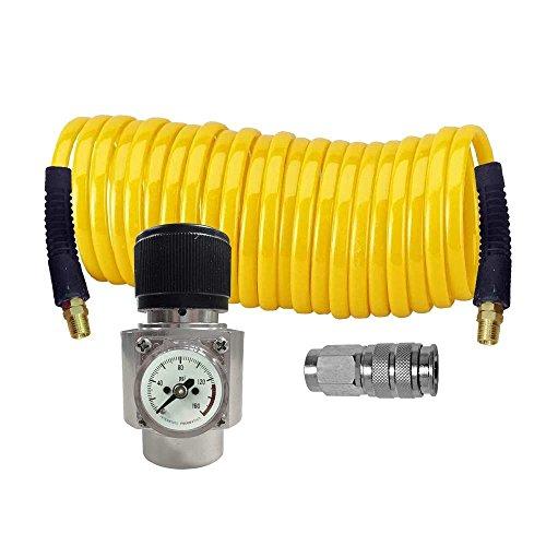 Interstate Pneumatics WRCO2-K1 CO2 regulator, Recoil hose and Coupler (Co2 Regulator Parts)
