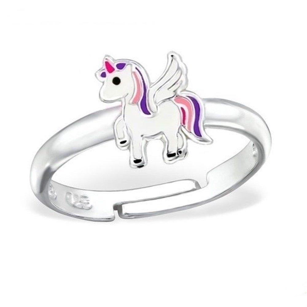 gh1a Licorne alicorn–Bague Femme–Argent 925/fille Enfants cheval Idée Cadeau Gh-1a R008P