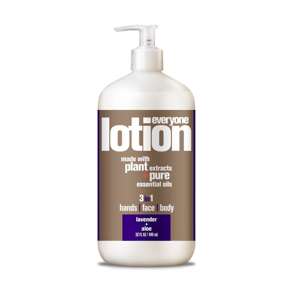Everyone Lotion, Lavender and Aloe, 32 Ounce, 3 in1 hand, face, body