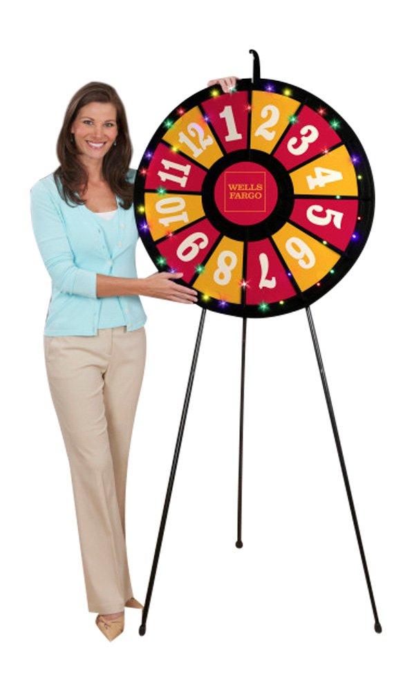 12 Slot Floor Stand Prize Wheel (31 Inch Diameter)
