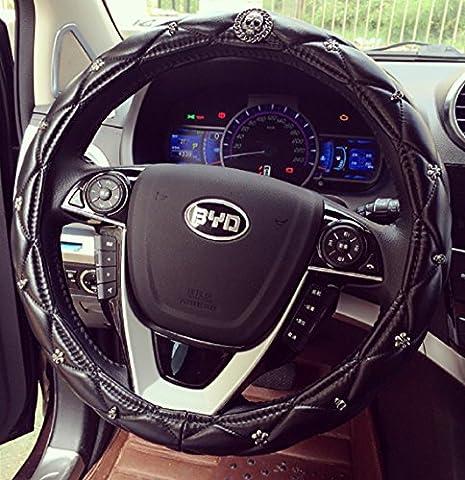 Sino Banyan Skull Steering Wheel Cover,Fashion Anti-slip,Black (Wireless Mouse Zebra)