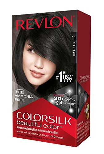 Revlon ColorSilk Beautiful Color, Soft Black [11] 1 ea ( Pack of 3)