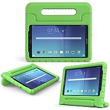 MoKo Samsung Galaxy Tab E 8.0 Case - Kids Shock Proof Convertible Handle Light Weight Super Protective Stand Cover for Samsung Galaxy Tab E 8.0 Inch SM-T377 4G LTE Tablet, GREEN