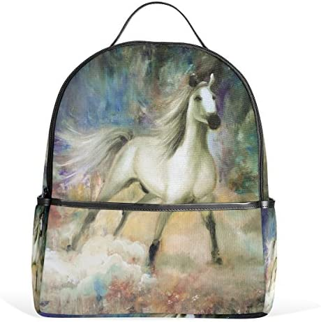 8589f65f7a JSTEL White Horse School Backpack 4th 5th 6th Grade for Boys Teen Girls Kids
