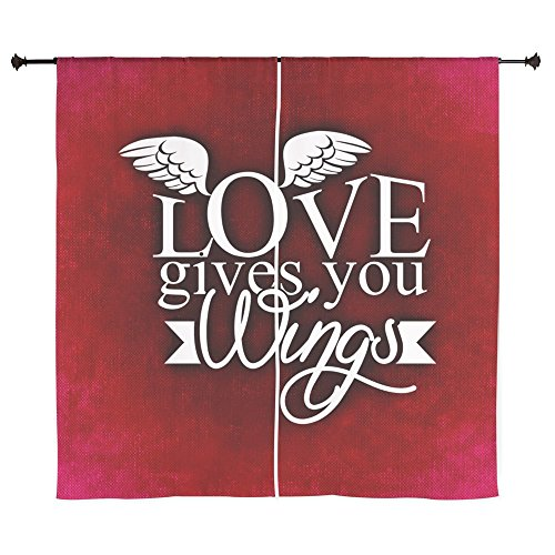 60 Inch Curtain Curtains Love Gives You Wings by Truly Teague
