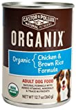 Organix Organic Chicken and Brown Rice Canned Canine Formula Dog Food, 12.7-Ounce Cans (Pack of 12), My Pet Supplies