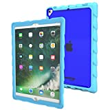 Gumdrop Cases Droptech for Apple iPad Pro 10.5 (2017) A1701, A1709 Rugged Tablet Case Shock Absorbing Cover, Light Blue/Royal Blue