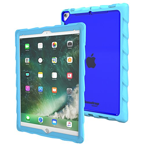 Gumdrop Cases Droptech for Apple iPad Pro 10.5 (2017) A1701, A1709 Rugged Tablet Case Shock Absorbing Cover, Light Blue/Royal Blue by Gumdrop Cases