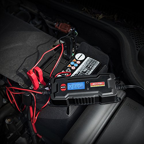 MICTUNING MULTI-STAGE LCD Display 6V/12V 0.8A/3.8A Smart Fully Automatic Battery Float Charger/Maintainer with Inline Blade Fuse, SAE Quick Connector by MICTUNING (Image #5)