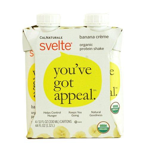 Svelte Organic Protein Shake, Banana Creme, 11 Fluid Ounce