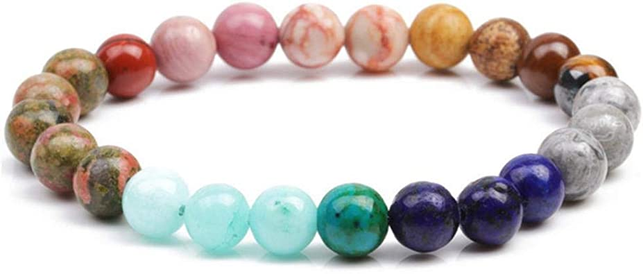 Amazon.com: Charms Chakra Bracelets pulsera hombre Natural ...