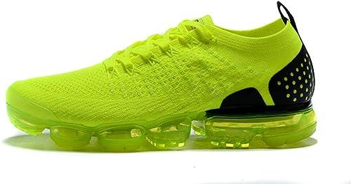 FFLY - Zapatillas de Deporte para Hombre y Mujer, Color Verde Fluorescente/Negro, Malla Transpirable, (Fluorescent Green/Black), 37 EU: Amazon.es: Zapatos y complementos