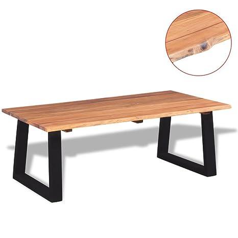 Weilandeal tavolino in legno di acacia 110 x 60 x 40 cm materiale ...