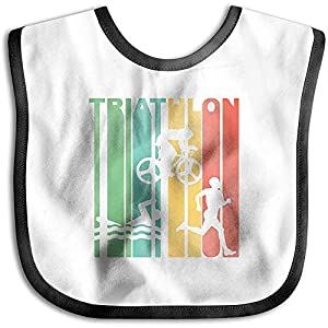 Bavoir pour bébé bandana, années 1970, Triathlon Retro Triathlete Retro, Bavoir imperméable pour tout-petit déjeuner… 5