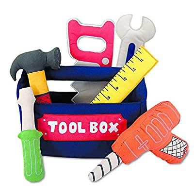 Pockets of Learning Personalized Tool Box Toy Set, Soft Play Set for Toddlers and Children, Fabric Activity Gift, Cloth Pretend Play Toy, Hammering and Pounding : Toy Tools : Baby