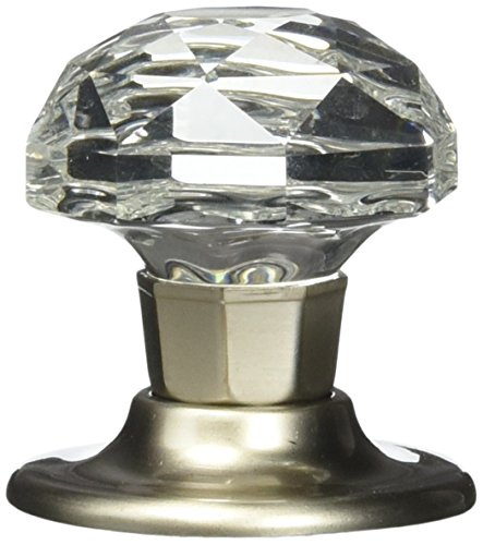 Amerock Crystal (Amerock E5247-2-CSG Clear Crystal with Satin Nickel Base Oversize Bi-Fold Door Knob Hardware, 1-3/4 Inch Diameter - 10 Pack)