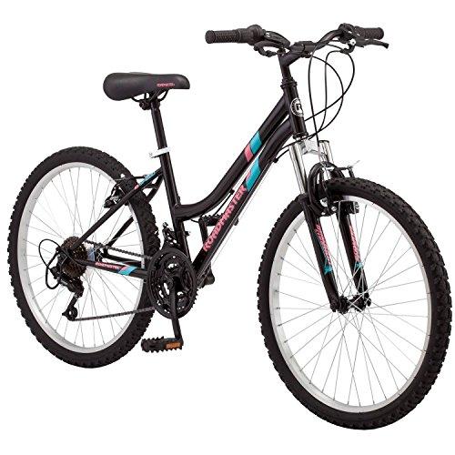 "24"" Roadmaster 18 Speed and Shimano Rear Derailleur Granite Peak Adult Girls Bike Outdoor Sports Mountain Bikes - Black"