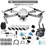 Cheap DJI Mavic Pro Platinum Fly More Combo CP.PT.00000069.01 + 2 DJI Intelligent Flight Battery for Mavic Pro Platinum (5 Total) and Much More.
