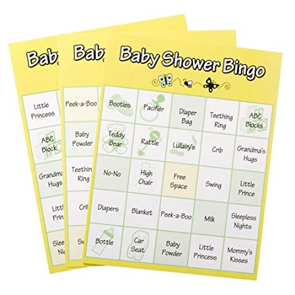 Bulk Buy Darice DIY Crafts Bingo Cards Baby Shower Yellow Green White Mix