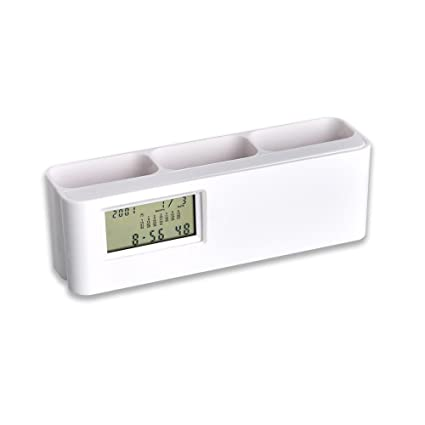 space saver clock with tumbler with detachable world time calculator