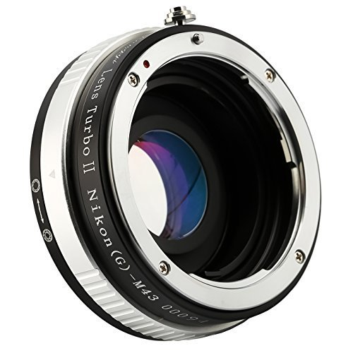 Zhongyi Lens Turbo II Nikon (G)-M43 Focal Reducer Booster Adapter with Portable Case for Nikon(G) Lens to Olympus Panasonic - Turbo Lens