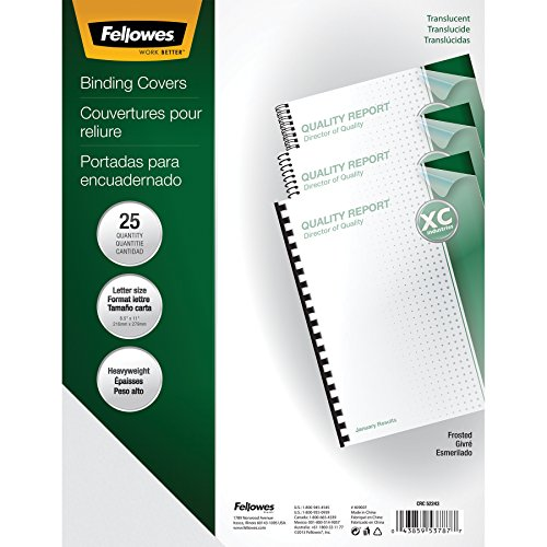 Fellowes Binding Presentation Covers, Letter, Frost, 25 Pack (5224301)
