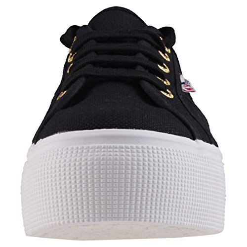 Down Femme Up And Baskets Superga Black 2790 Acotw Yellow Linea W7BPRxZOq