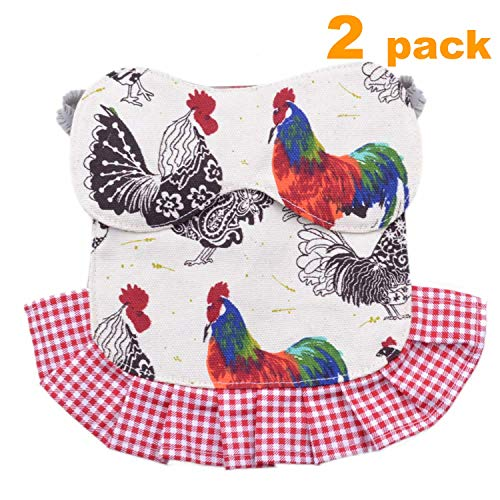 pranovo 2 Pack Standard Chicken Saddle Hen Apron Feather Fixer Wing Back Protector for Poultry (Protect Back and Wing) (The Best Chicken Wings)